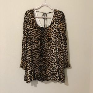 Cheetah Print Dress - Size Medium